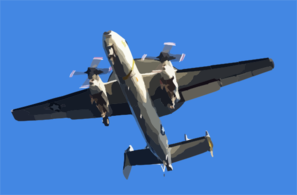 E-2c Hawkeye Flies Directly Over The Flight Deck Clip Art