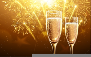 champagne glasses new year clipart image