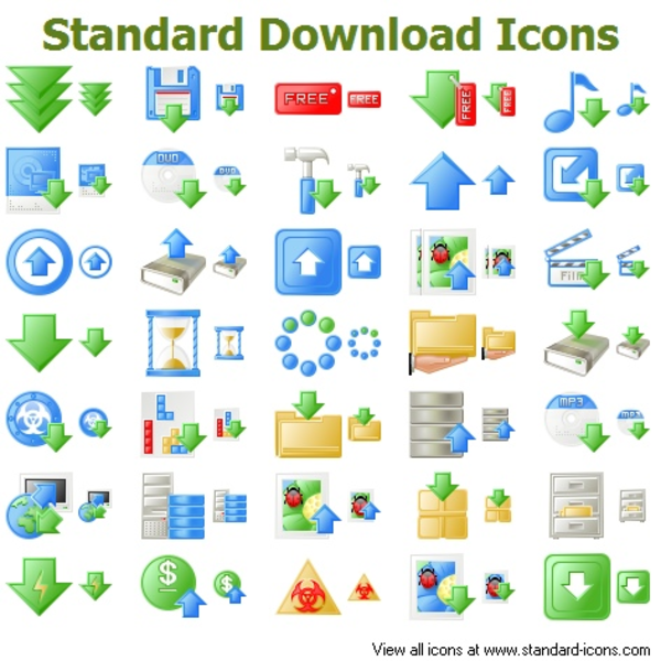 standard download icons