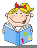 Happy Reader Clipart Image