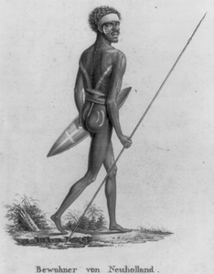 Native With Arrow And Shield Image