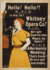 Hello! Hello! Is That So? Whitney Opera Co.? All Right Save Me A Box. What S The Opera? A Normandy Wedding. That S Funny! Be Sure And Save The Box Image