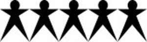 Simple Isolated Icon Showing A Group Of People Connecting Together Image