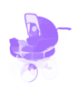 Purple Carriage Clip Art