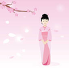 Princess Under Sakura Tree Image
