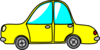 Simple Car Yellow Small Clip Art