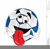 Clipart Of Funny Soccer Balls Image