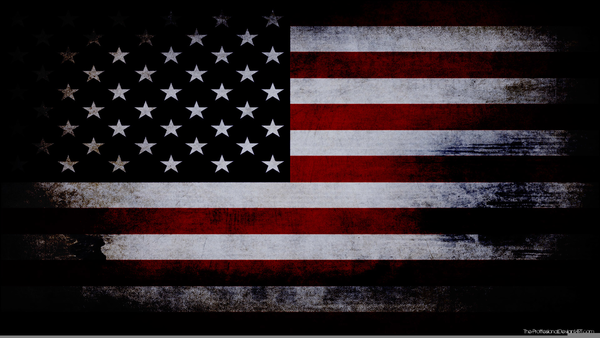 American Flag Clip Art At Clker - Waving American Flag Vector Black And  White - 600x421 PNG Download - PNGkit