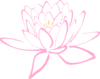 Pink Peach Lotus Clip Art