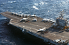 The Flight Deck Aboard Uss Harry S. Truman (cvn 75) Is Readied For Flight Operations Image