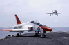 A T-45c Goshawk Assigned To Fixed Wing Training Squadron Seven (vt-7,) Is Recovered On The Flight Deck Of Uss Harry S. Truman (cvn 75). Image