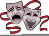 Comedy Tragedy Masks Clipart Image