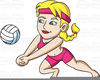 Clipart Of Women Playing Sports Image
