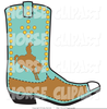 Pink Cowgirl Boot Clipart Image