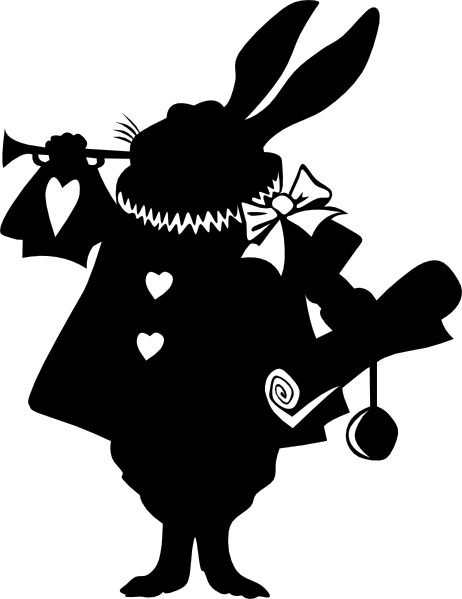 Rabbit Silhouette Clip Art at Clker.com - vector clip art ...