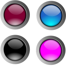 Round Glossy Buttons Clip Art
