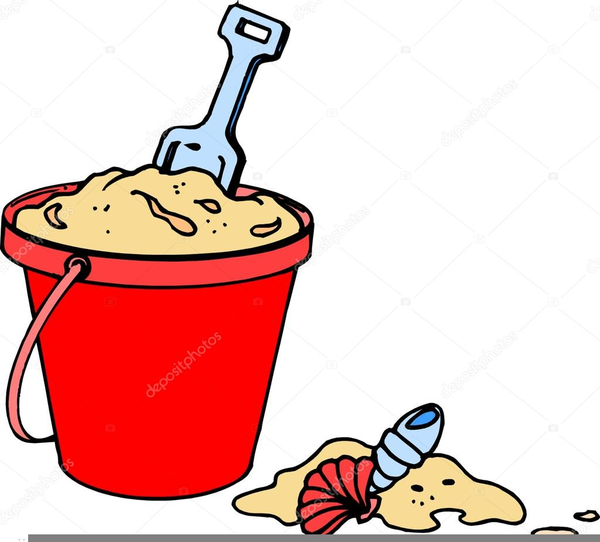 Beach pail shovel clipart free images at for Sand bucket template