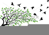 Flying Bird Clipart Silhouette Image