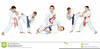 Kids Martial Arts Clipart Image