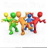 People At A Party Clipart Image