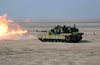 Marines From The 13th Marine Expeditionary Unit (13th Meu) Tank Platoon Blt 1/1 Stationed At Twentynine Palms, Calif., Fire The M-a1 Abrams Tank During A Live Fire Training Exercise. Image