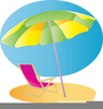 Beach Chair Umbrella Clipart Image