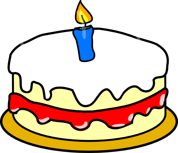 Clip Art Of Birthday Cake : First Birthday Cake Clip Art at Clker.com - vector clip ...