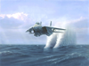 Fighter Over Water Image