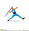 Javelin Thrower Clipart Image