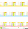 Birthday Candle Border Clipart Image