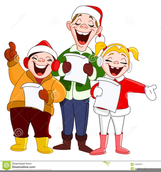 download this image as - Christmas Carollers