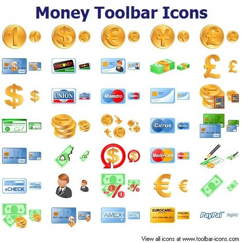 Money Toolbar Icons | Free Images at Clker.com - vector clip art ...