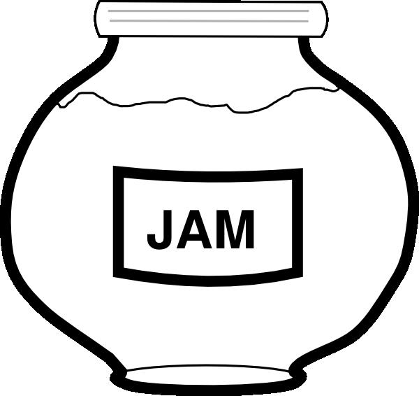 Jam Jar Outline Clip Art at Clker.com - vector clip art online ...