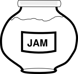 Jam Jar Outline Clip Art
