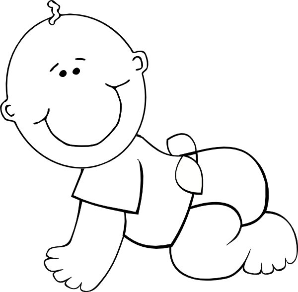 baby boy clip art coloring pages - photo #3