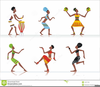 African American Party Clipart Image