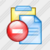 Icon Clipboard Stop Image