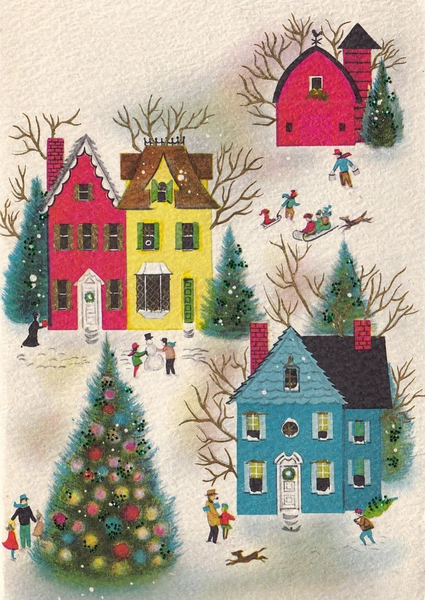 Vintage Christmas Tree Clipart Free Images At Clker Com Vector