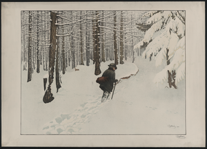 [a Man Walking In The Snow]  / Engelhart, 1904. Image