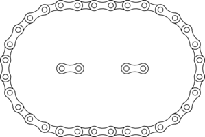 1-c Bike Chain Clip Art