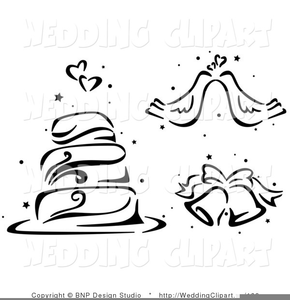 Wedding Bells Clipart Black And White Free Image