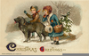 Victorian Christmas Card Clipart Image