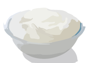 Bowl Of Greek Yogurt Clip Art