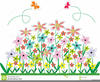 Free Clipart Flower Gardens Image