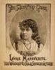 The Miniature Patti, Louise Marguerite The Wonderful Child Singer & Actress. Image