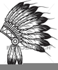 Mohawk Indian Clipart Image