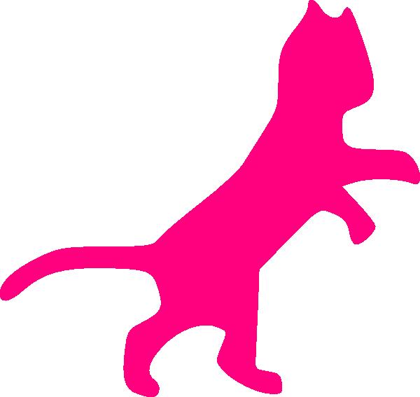 Pink Cat Sillohette Clip Art at Clker.com - vector clip art online ...