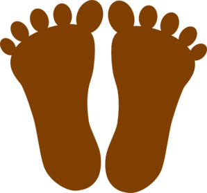 Brown Footprints Clip Art