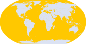 Yellow World Map Clip Art