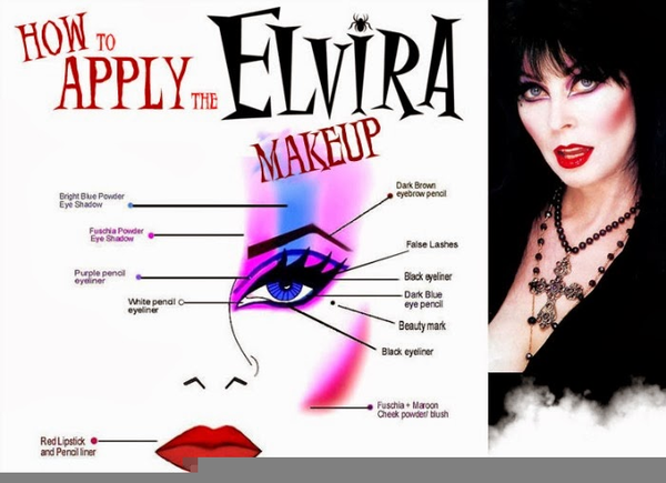Elvira Makeup Instructions Free Images At Clker Vector Clip